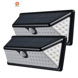 patio walls 2019 - 73 LEDs LED Solar PIR Lights 730LM Outdoor Waterproof Motion Sensor Solar Lamp LED Patio Lights Wall Security Lamp Garde