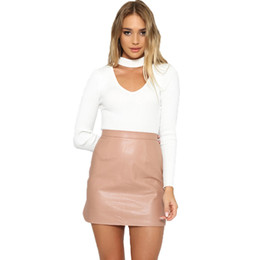Discount Pink Leather Skirts | 2017 Pink Leather Skirts on Sale at ...