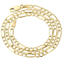 $enCountryForm.capitalKeyWord UK - Mens Real 10K Yellow Gold Figaro Chain 4mm Necklace High Polished 16-30 Inches