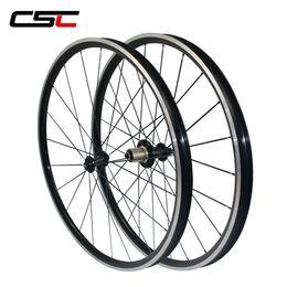 Discount 24 bicycle wheelset 700C 23.8mm Wide Kinlin XR26T 26mm Tubuless Aluminium Alloy Bike Wheels Bicycle Wheelset Powerway R51 Hub 20 24 hole (2: