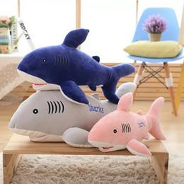 Pink Toy Fish Canada - 55-85cm Cute Blue Shark Plush Toys soft goat Fish Cloth plush Doll Stuffed plush animals Christmas present For Baby gift