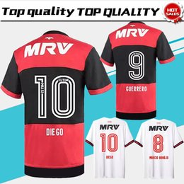 771058b17 online shopping Flamengo home red black Soccer Jersey Flamengo away white Soccer  Shirt Customized football Uniform