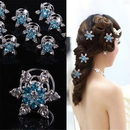 hair styles for weddings 2019 - 5 Styles Women Bridal Wedding Hair Jewelry Snowflake Hair Clips Girl Rhineston Diamond Hair Accessories Hairpin for Cosp