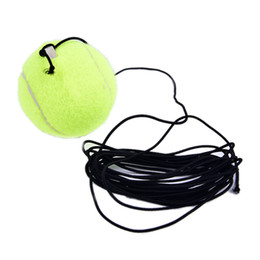 Jets Tools UK - Wholesale- JETTING 1Pc Tennis Ball Sports Tennis Training Balls Trainer Exercise Ball with Rubber Rope Trainer Train Tool