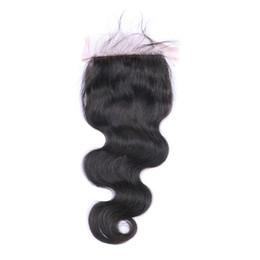 $enCountryForm.capitalKeyWord UK - Body Wave Silk Base Closure Free Part Remy Human Hair Closure Bleached Knots With Baby Hair Top Closures