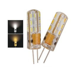 Discount chandelier candle bulbs - SMD 3014 LED G4 Lamp Corn Bulb 3W 4W 5W 7W 9W AC 110V 220V Crystal Silicone Candle Corn Droplight Chandelier LED Spot la