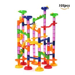 Wholesale FUNTOK Marble Run Railway Toys Construction Child Building Blocks Toys Enlightenment Educational Three dimensional Maze toys DHL SF