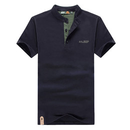 Wholesale green collar polo shirts men for sale - Group buy Summer Polo Shirt Men Cotton Stand Collar Short Sleeve Shirts Polo Solid Color Slim Fit Mens Tees XL