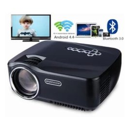 Android Tv Projector NZ - New GP-70UP LED Projector Android 4.4 Tv box tv Full HD DLAN WIFI Bluetooth 3.0 Support Miracast Airplay EZCast Multilanguage Beamer
