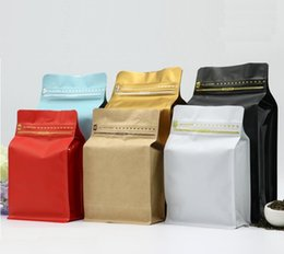 $enCountryForm.capitalKeyWord Australia - Stand Up Aluminum Foil Packing Package Bag for Food Coffee Storage Zipper Zip Lock Bag Packing Bag Pouch For tea Snack
