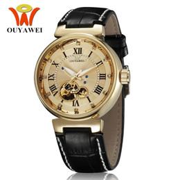 $enCountryForm.capitalKeyWord UK - 2017 OYW Luxury Gold Man mechanical hand wind Men Business Watches Leather Strap 30M Waterproof Fashion Dress wristwatches relogio masculino