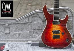 China Wholesale- Mayones regius6 handmade electric guitar seymour duncan pickups grover tuner locked custom shop color binding cheap mayones guitars suppliers