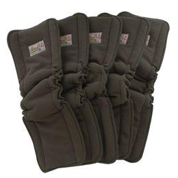 Ohbabyka Bamboo Charcoal Diaper Inserciones elásticas para pañales para bebés Reutilizable Paño lavable Insertar pañal Fraldas De Pano 10pcs / Pack