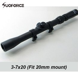 Wholesale 3 X20 Telescopic Optic Riflescopes Cross Reticle Illuminated with mm Rail Mount For Airgun Shotgun