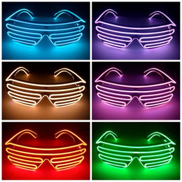 EyEglassEs for party online shopping - New Plastic Eyeglass Double EL Wire Light LED Glasses For Halloween Christmas Birthday Party Spectacles Glowing In The Dark xz B