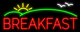 "$enCountryForm.capitalKeyWord NZ - Breakfast Sun Neon Sign Handcrafted Custom Real Glass Tube Restaurant Delis Food Trailers Store Pub Advertising Display Neon Signs 19""X8"""