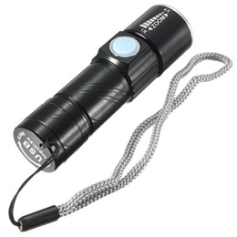 portable rechargeable flashlight UK - Led Torch Light 5V USB Rechargeable Zoomable Light Q5 Waterproof Handy Flashlight for Hunting Camping Bicycle Black Gold Color