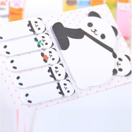 MeMo pad set online shopping - New Sets Creative Sticker Mini Panda Shape Animal Sticky Notes Memo Pad Kid Children Gifts School Office Stationery Supplies