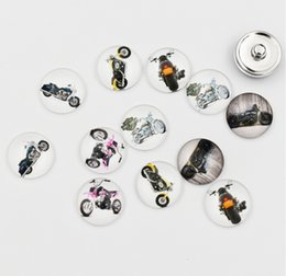 Мотоцикл Оснастки кнопки ювелирные изделия 18 мм круглый стекло Harley Оснастки прелести высокое качество Оснастки аксессуары для ожерелье браслет серьги на Распродаже