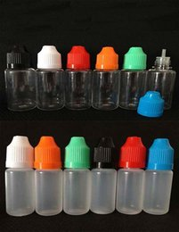 screw eyes Australia - 2016 new PE 10ml EYE Liquid Dropper bottle colorful Empty Plastic Ecigarette EJuice oil bottles with CHILD Proof Caps
