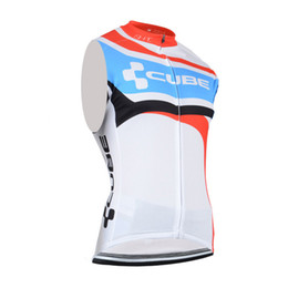 Bicycle Sales NZ - Hot Sale! Cube Cycling sleeveless jersey ropa ciclismo bicycle clothing men Summer style ciclismo maillot Bike Sportswear cycling vest B2501