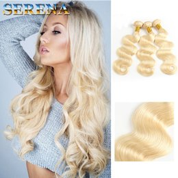 $enCountryForm.capitalKeyWord Australia - Color 613# Bleach Blonde Eurasian Body Wave Virgin Hair Eurasian Human Hair Weave Bundles SOFT THICK Tangle Free Hair Extensions Dyeable