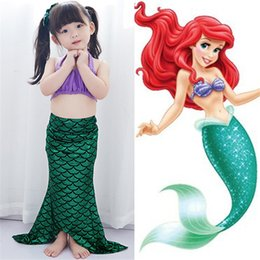 Filles 4t De Vêtements Élégants Pas Cher-Élégant exquis enfant Mermaid maillot de bain vêtements fille princesse sirène queue maillots de bain fille plage bikini M204