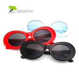 adf6af0681 Al por mayor-NIRVANA Kurt Cobain Classic Retro para hombre Gafas de sol  Diseñador de la marca de plástico Frame Oval Gafas de sol para hombres  Vintage ...