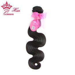 "hair products dhl UK - Queen hair products Brazilian virgin human hair body wave,1pcs lot 8""-28"" DHL Free shipping"