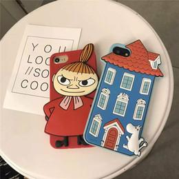 Vente en gros Coque en silicone Japon 3D Cartoon Moomin et Little My Soft Pour iPhone 6 6s 7 4,7 pouces 6 plus 7 7plus Coque couverture arrière