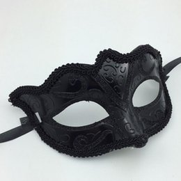 Wholesale Black Girls Women Sexy Ball Lace Mask Catwoman Fox Masquerade Dancing Party Eye Mask Cat Halloween Fancy Dress Costume