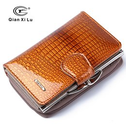$enCountryForm.capitalKeyWord Canada - Wholesale- Fashion Real Patent Leather Women Short Wallets Small Wallet Coin Pocket  Wallet Female Purses Money Clip Gold color