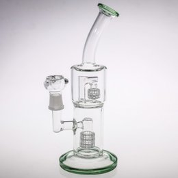 Tubes Bleus Bon Marché Pas Cher-Blue Green Glass Bongs Tubes d'eau Images réelles Tubes smelling Honeycomb Honeycomb Pneu Birdcage Percr Cheap Recycler Oil Rigs Glass Bongs