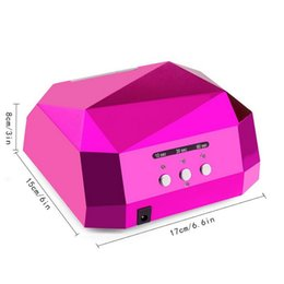 Barato Uv Nail Art Curing Time-Atacado- 2016 Time-limited Nail Art 36w Auto Led Light Lamp Fast Curing Gel Polish Manicure Machine Tool Uv Nail Dryer
