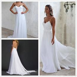hot sale chiffon beach wedding dress sexy sweetheart spaghetti lace beach wedding dresses promotion bridal dress 2017 boho wedding dresses boho wedding