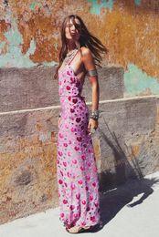 $enCountryForm.capitalKeyWord Canada - 2019 party dresses sexy backles print slip dress floral sleeveless boho hippie chic maxi women dresses vestido brand lemon clothing