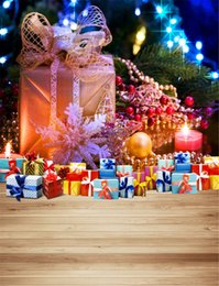 $enCountryForm.capitalKeyWord Canada - Merry Christmas Photography Backdrops Wood Flooring Family Gift Boxes Sparkling Light New Year Holiday Kids Children Photo Background