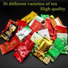 36 diferentes sabores Famoso chá chinês Leite chá oolong Dahongpao Tieguanyin Pu erh chá Verde Puer Preto Frete grátis venda por atacado