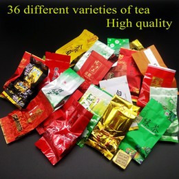 China 36 different flavors Famous Chinese tea Milk oolong tea Dahongpao Tieguanyin Pu erh Green tea Puer Black Free shipping cheap famous tea suppliers