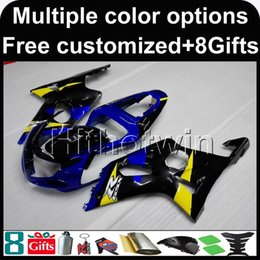 gsxr cover NZ - 23colors+8Gifts BLUE motor cover motorcycle cowl for Suzuki GSX-R1000 00 01 02 GSXR 1000 2000 2001 2002 ABS Plastic Fairing