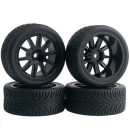 $enCountryForm.capitalKeyWord NZ - 4pcs RC Flat Racing Tires Tyre Wheel Rim Fit HSP HPI 1:10 On-Road Car 910-8007