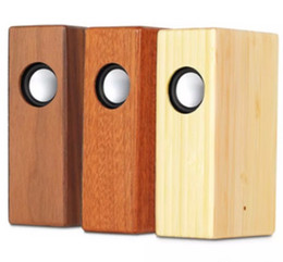 Portable Mp3 Amplifier Speaker UK - Creative Wood Induction Speaker Free Sound Amplifier Wooden Wireless Speaker Portable Stereo Speaker Wooden Magic Induction