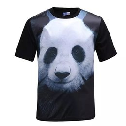 $enCountryForm.capitalKeyWord Canada - Panda printed 3d silk t shirt men fashion animal summer t-shirt short sleeve silk front mens tee shirts casual tops BL -320