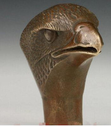 $enCountryForm.capitalKeyWord Canada - Asian Chinese Old Bronze Hand Carved Eagle Statue Cane Walking Stick Head