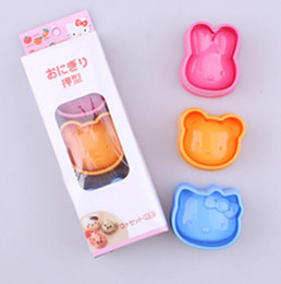 RubbeR ball beaRings online shopping - Dining DIY cartoon cat rabbit bear series Sandwich mould Rice and rice ball mould Sushi mould