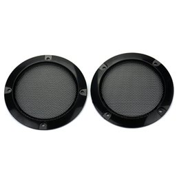Chinese  Wholesale- 2pcs 3 inch Black Circle Speaker Protective Grille Decorative with DIY for Car sound Box manufacturers