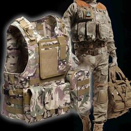 army combat vest 2019 - Tactical Vest 7 Colors Mens Army Outdoor Hunting Vest Field Battle CS Molle Waistcoat Combat Assault Plate Carrier Hunti