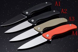 $enCountryForm.capitalKeyWord Australia - Promotion 4 Style Russia Flipper Knife 440C 58HRC Satin Drop Point Blade G10 Handle EDC Pocket Folding Knives