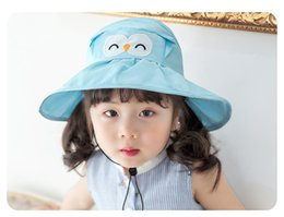 Caps Summer For Girls Pas Cher-Nouvelle mode crushhat Kids Summer Hats Cartoon Wholesale Caps Enfants Sun Hat garçons filles chapeau de plage Toddler Visor Baby Gift Kids Wear A713