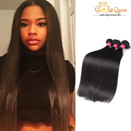 Grace hair products online shopping - Unprocessed A Brazillian Straight Beauty Grace Hair Products Cheap Bundles Brazilian Human Hair Weave Natural Color No Tangle
